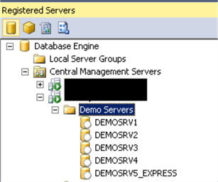 Demo Servers group in CMS