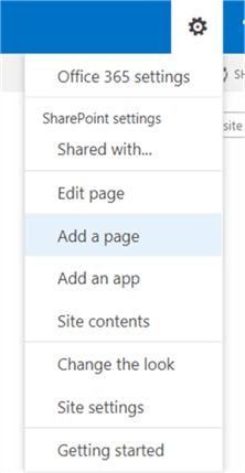 Create a page in SharePoint Online