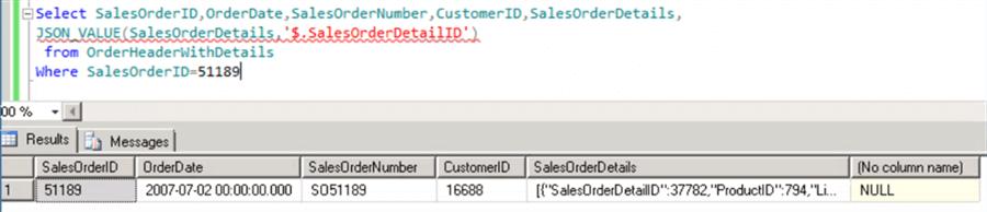 Transforming JSON Data to Relational Data in SQL Server 2016