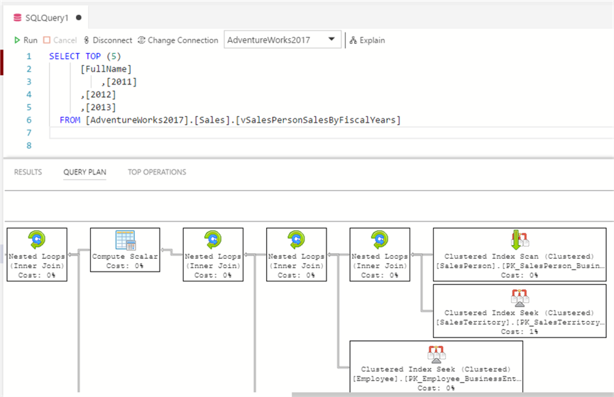 how to see execution plan in sql server management studio