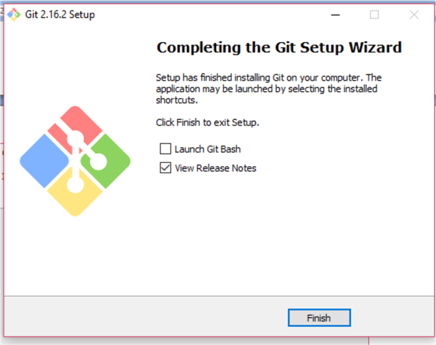 completing the git setup wizard