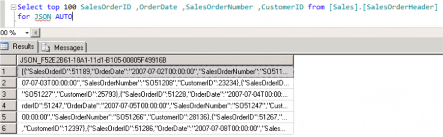 Using SQL Server Integration Services to Export Data in JSON
