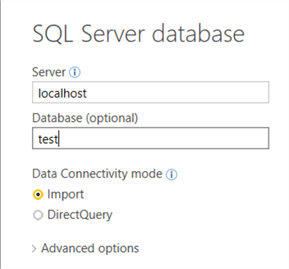 import from SQL Server