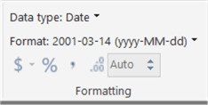 set the date data type