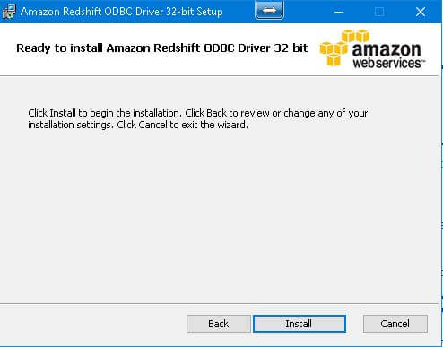 Amazon Redshift install