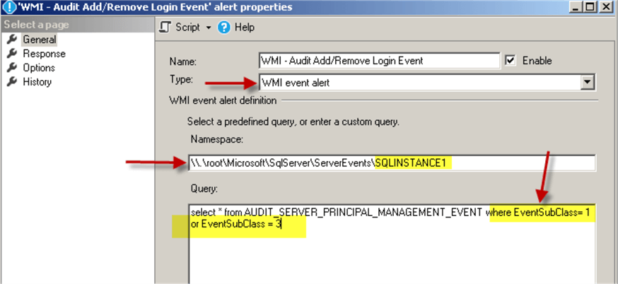 WMI Alert to Respond to the Login Creation/Deletion Events