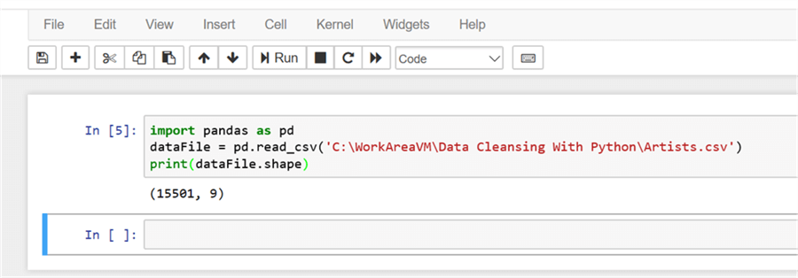 Creating data frame from CSV file - Description: Creating data frame from CSV file