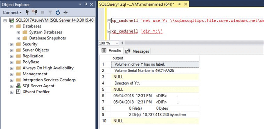 Run command shell in SQL Server