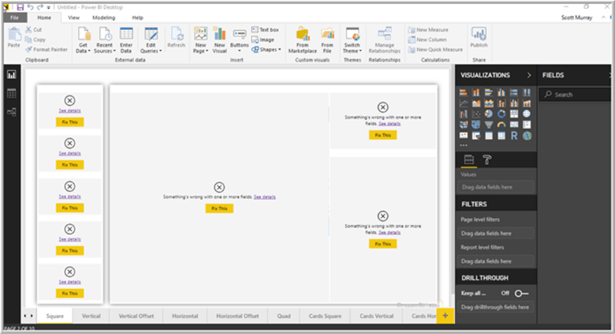 Power BI Layouts and Themes