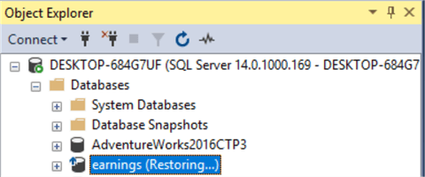 SQL Server Database Stuck in Restoring State