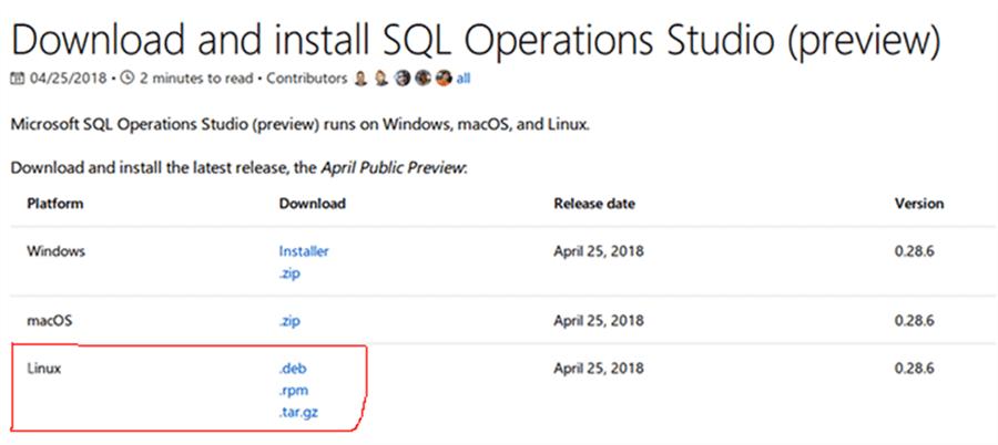 Install SQL Operations Studio on Ubuntu Linux