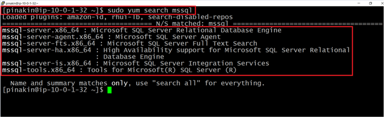Mssql-server.x86_64: Microsoft SQL Server Relational Database Engine  - Description: Mssql-server.x86_64: Microsoft SQL Server Relational Database Engine 