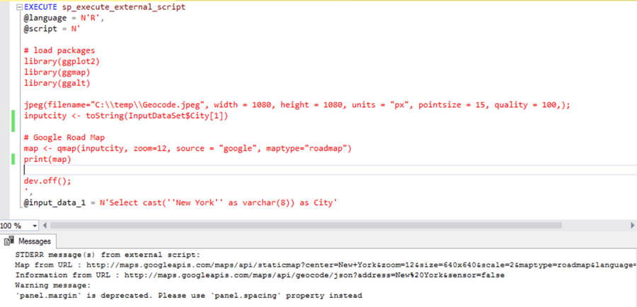 Geocoding and Generating Map Images Using R in SQL Server 2017