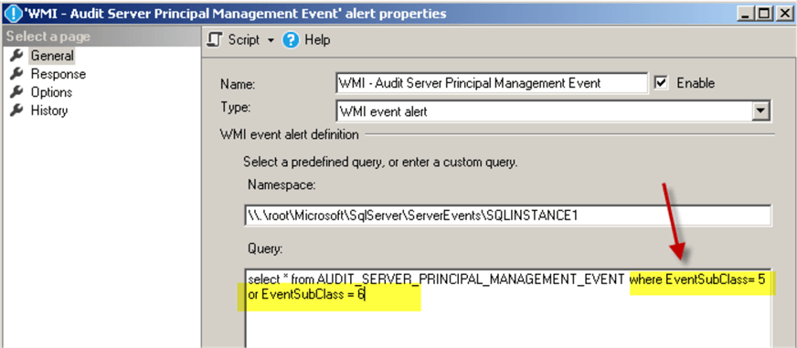 WMI Alert to Respond to the Login Disable/Enable Events