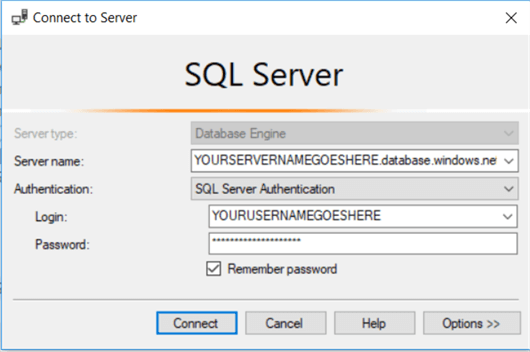 Connect to SQL Server in Management Studio