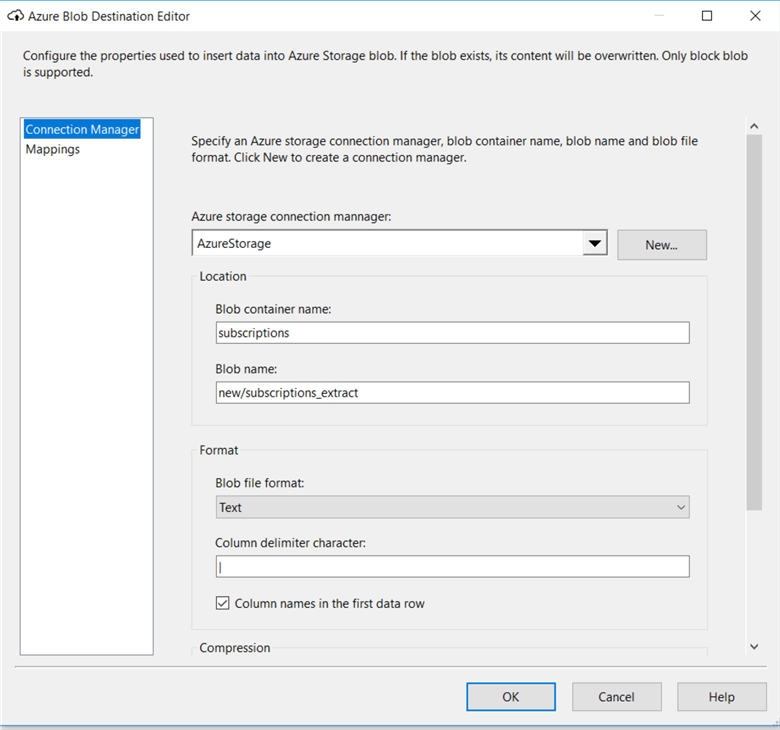Using Azure Storage and Azure SQL Database for SSIS Development