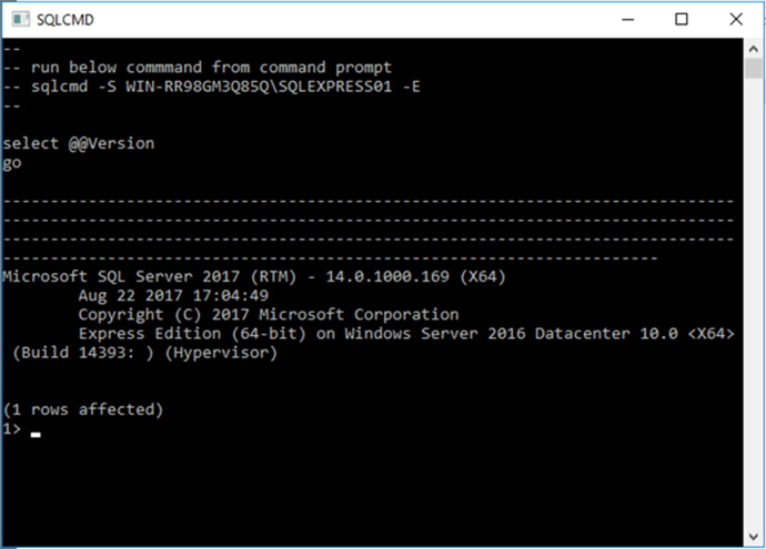 Screen Capture 5 - Description: You can start using your SQL Server Express instance right away after installed.