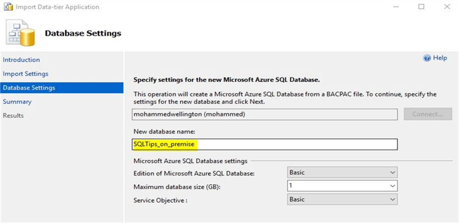 Azure SQL DB Auto selected