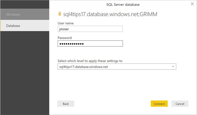 M Language - Text Extraction - Description: Azure SQL Server security information.