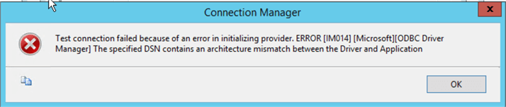 connection manager error