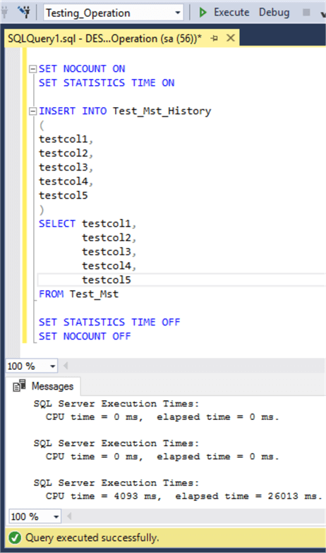 Optimize Moving SQL Server Data From One Table to Another Table