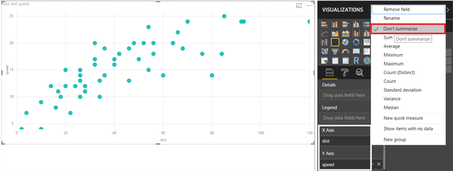 power bi scatterplot