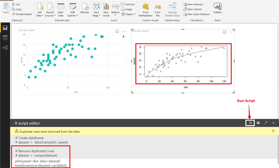 Locally Weighted Scatterplot Smoothing (Lowess) approach in Power BI