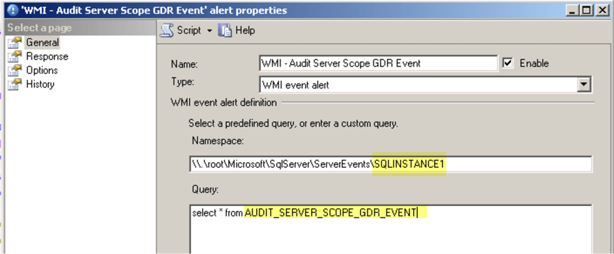 Server Scope permissions change - WMI alert