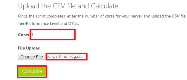 How to use the Azure SQL Database DTU Calculator