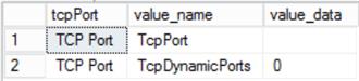 dynamic tcp port info