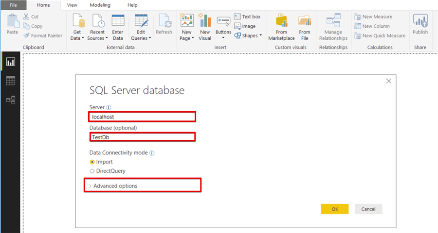 power bi connect to sql server