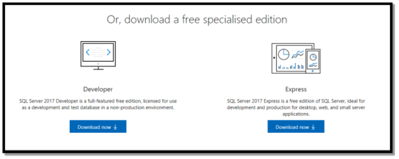Download free specialised edition of SQL Server