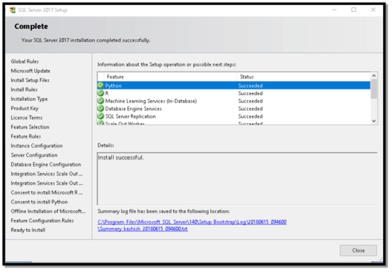 sql developer edition install progress