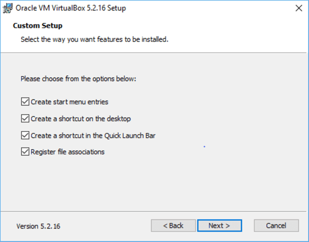 installing oracle virutalbox