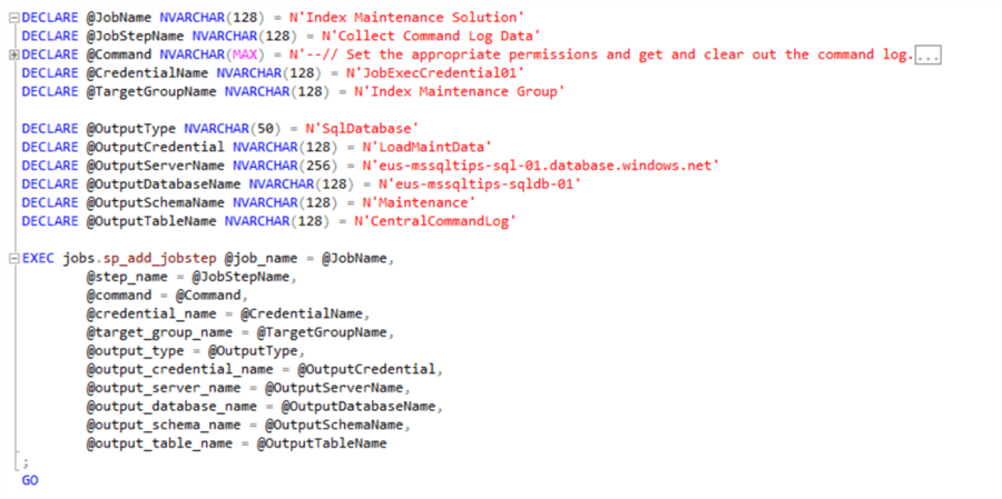Add Collector Job Step