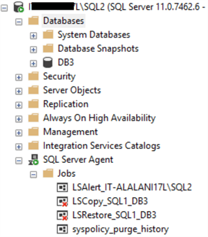 databases on server