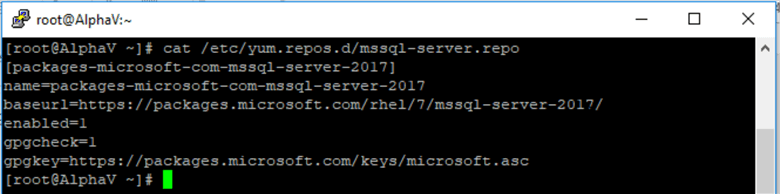 view content of mssql-server.repo