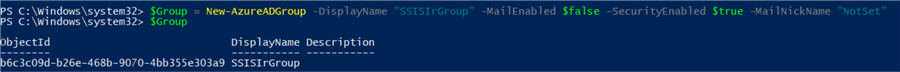 create new AD group in PowerShell