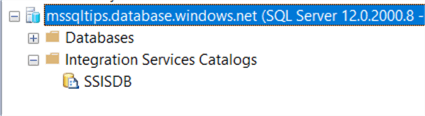 the SSIS catalog in Azure SQL DB