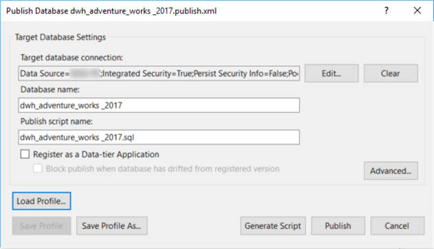 A screenshot shows how to configure target database settings.