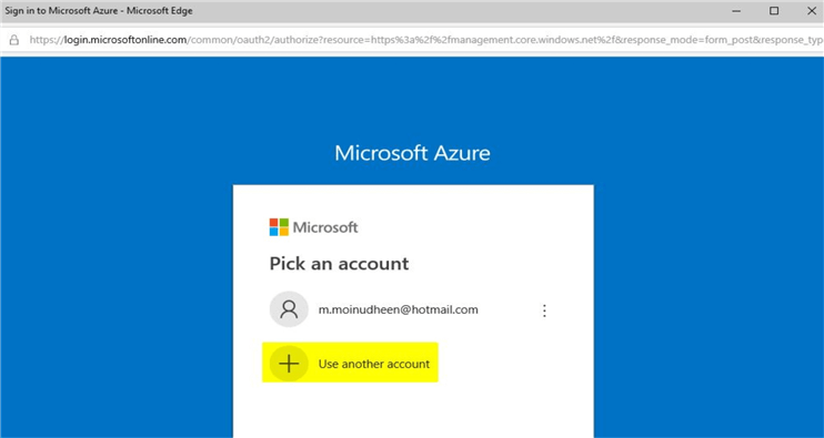 microsoft hands-on labs azure portal sign in