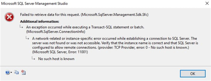 microsoft hands-on labs sql database error