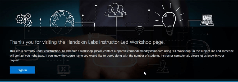 microsoft hands-on labs instructor led labs