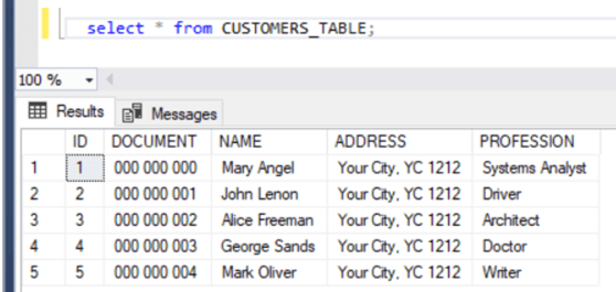 xml file import query results