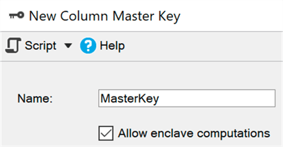 New option in Create Master Key dialog