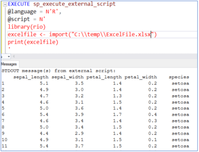 Build a standard import and export process with SQL Server