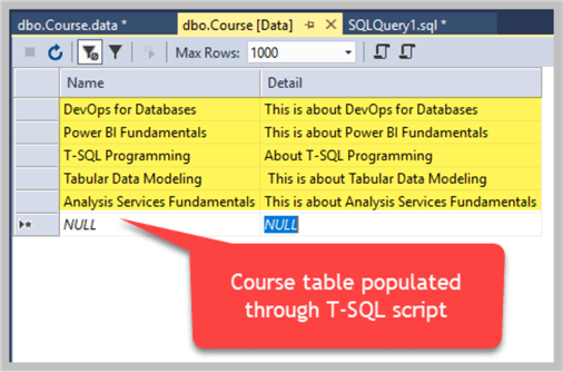populate table with t-sql