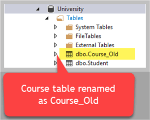 rename table with sp rename