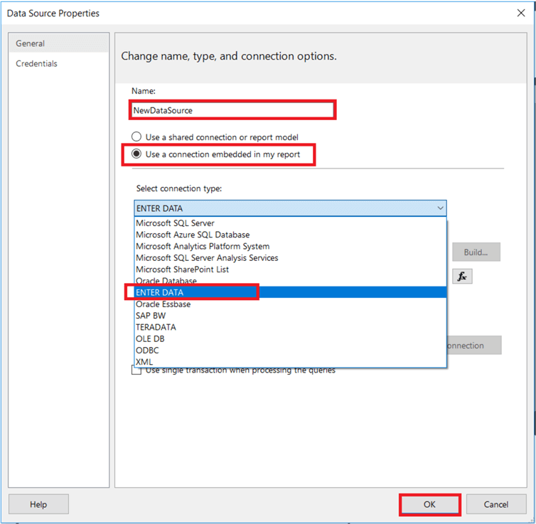 Enter and Edit Data in SQL Server Reporting Services