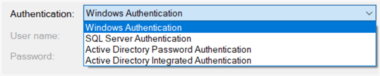 different authentication mechanisms